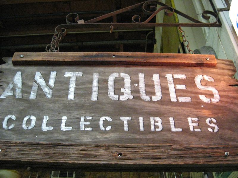 Antiques Collectibles Sign