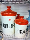 Cookie and tea jars